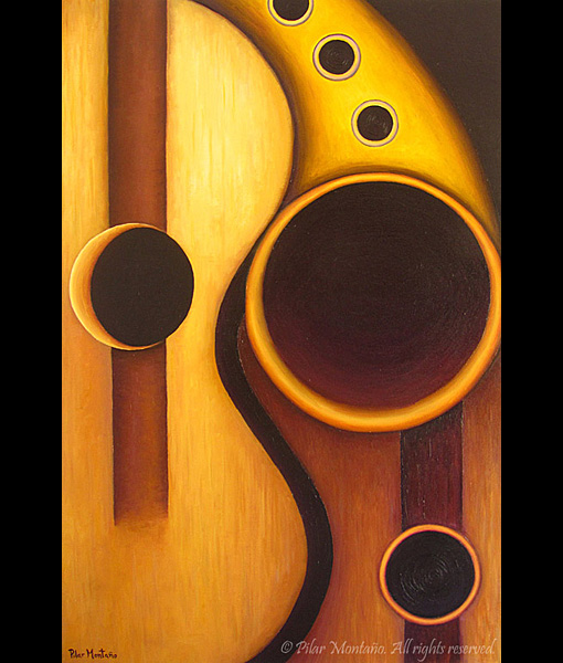 "La Musica | Oil on Canvas | 36"" x 24"""