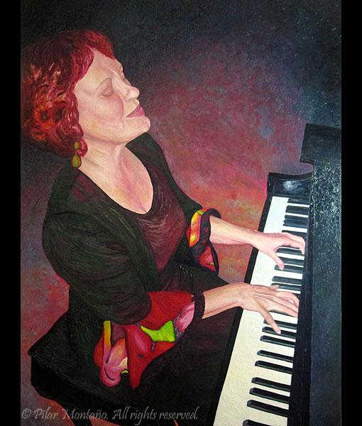 "Piano Woman | Oil on Canvas | 48"" x 36"""