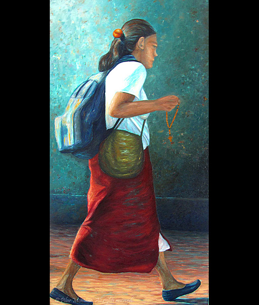 "The Journey | Oil on Canvas | 48"" x 24"""
