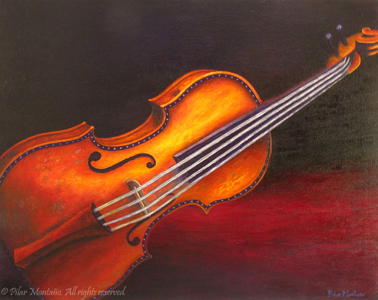 "Violin | Oil on Canvas | 24"" x 30"""