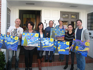Pilar Montaño Painting Class
