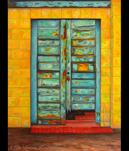 "Yellow Door | Oil on Canvas | 40"" x 30"""