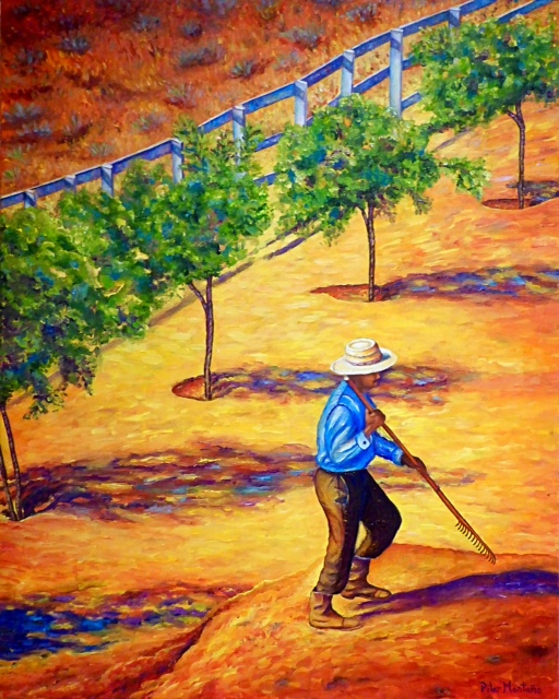"The Gardener | Oil on Canvas| 30"" x 24"""