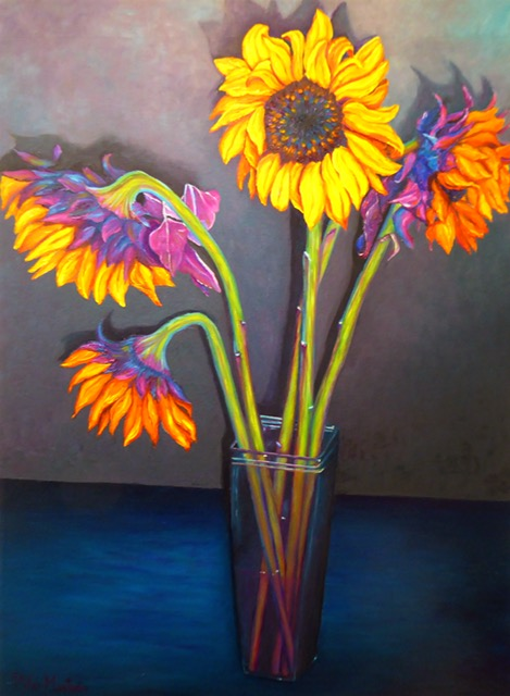 "Marnies Flowers| Oil on Canvas| 24"" x 30"""
